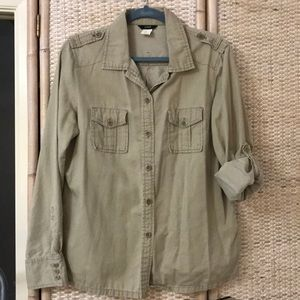 "J.crew utility shirt XL (21"" across)"